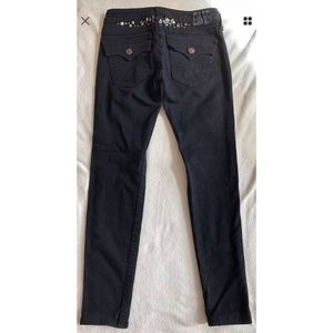 True Religion Section Julie Black Skinny Jeans 28